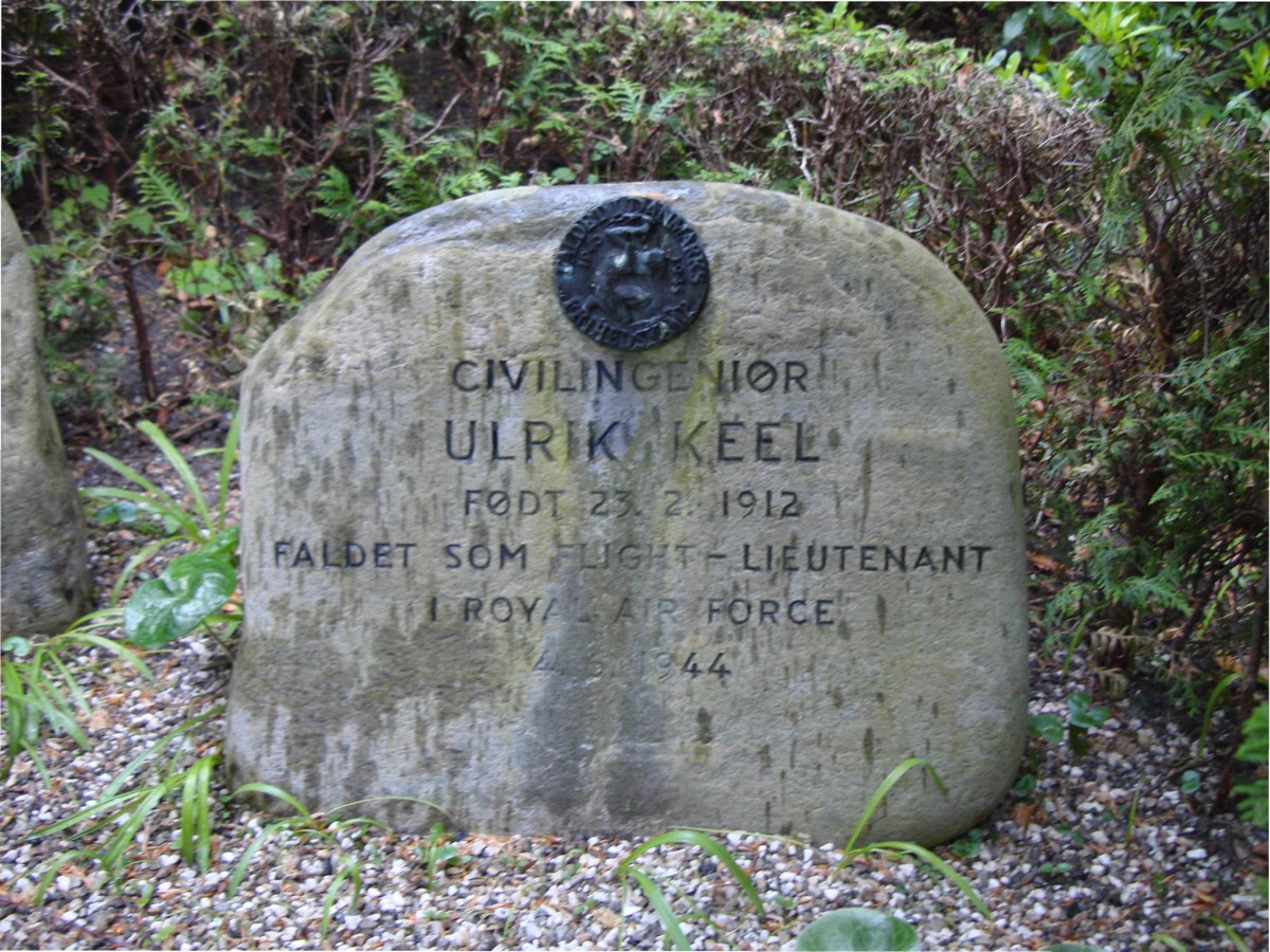 Keel's final resting place in Solbjerg Parkkirkegård, a cemetery in Frederiksberg, Copenhagen. He was initially buried in England but repatriated after the war. © Mikkel Plannthin