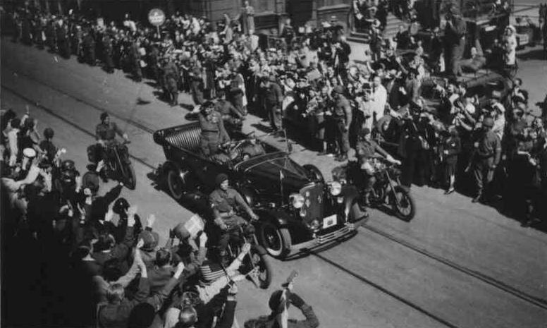 Field Marshal Montgomery visits Copenhagen in triumph on 12 May 1945