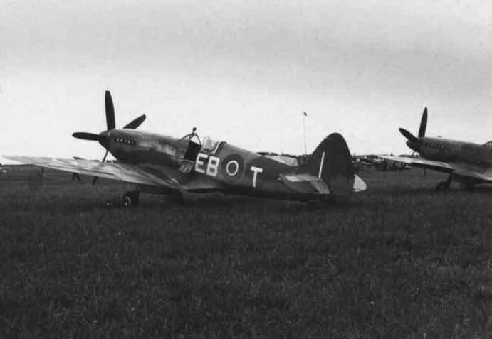 A 41 Squadron Spitfire XIV in Kastrup in  1945